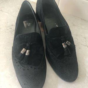 Stuart Weitzman black tassel loafers